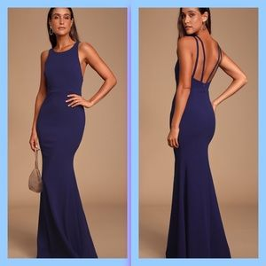 Lulu's Dream About You Backless Maxi Dress
